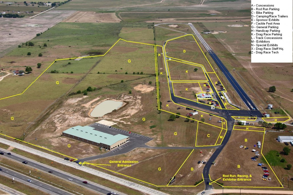 lone star drag strip assigned parking