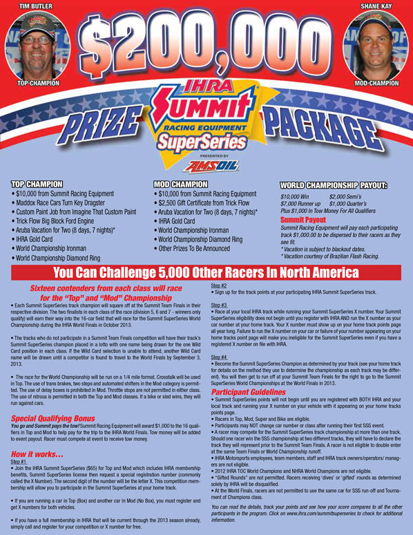 Summit SuperSeries Presented By AMSOIL