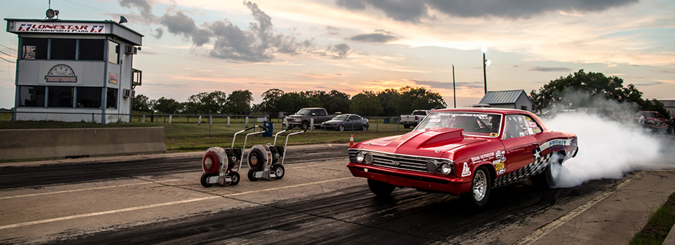 Lonestar Motorsports Park Race Night Burnout